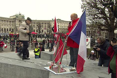Rednerpult auf dem Deserteursdenkmal