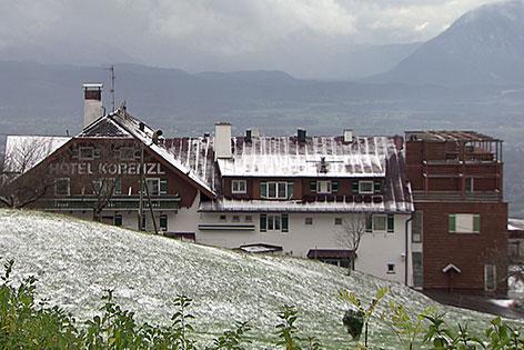 Das ehemalige Hotel Kobenzl am Gaisberg in der Stadt Salzburg, Erstaufnahmezentrum des Bundes für Flüchtlinge