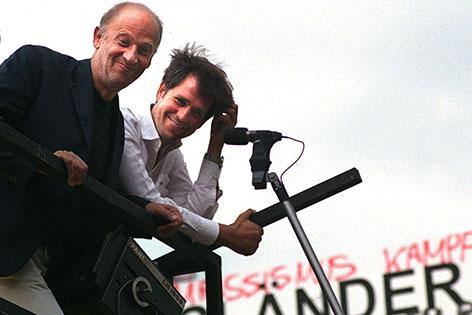 Luc Bondy und Christoph Schlingensief im Jahr 2000