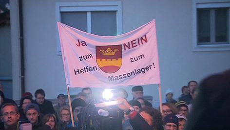 Demonstration am Freitagabend in Bruckneudorf