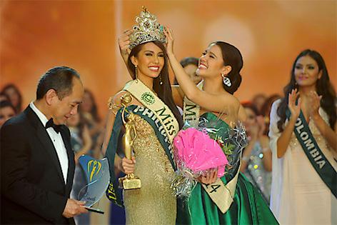 """Miss Earth 2015, Angelia Ong von den Philippinen, im Rahmen des Finales des """"Miss Earth"""" Wettbewerbes am Samstag, 5 Dezember 2015, in Wien"""