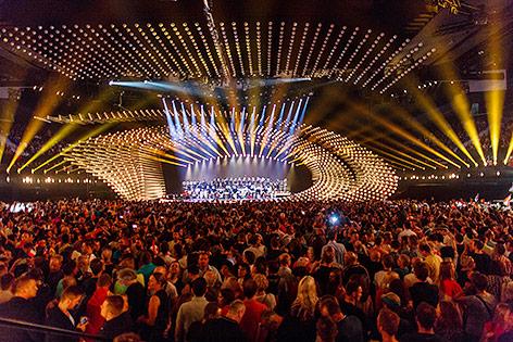Song-Contest-Bühne in der Wiener Stadthalle