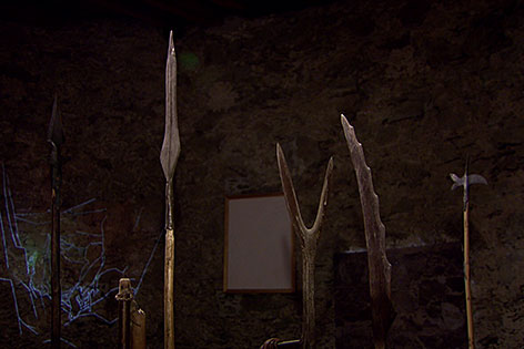 Alte Waffen im Museum