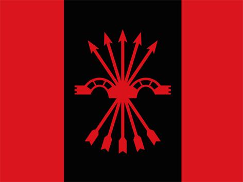 Parteiflagge der Falange