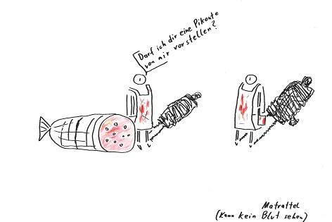 Cartoon von Matrattel