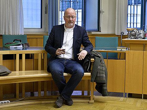 Hauptangeklagter Werner Böhm, Gründer der Internetplattform YLine