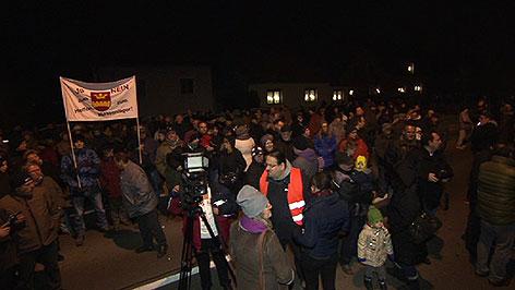 Demonstration in Bruckneudorf