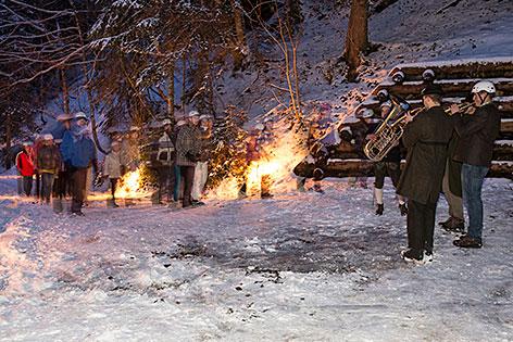 Leoganger Knappenadvent im Schnee