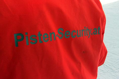Jacke einer Pisten Security