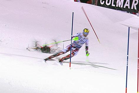 Drohnencrash hinter Marcel Hirscher beim Slalom in Madonna di Campiglio