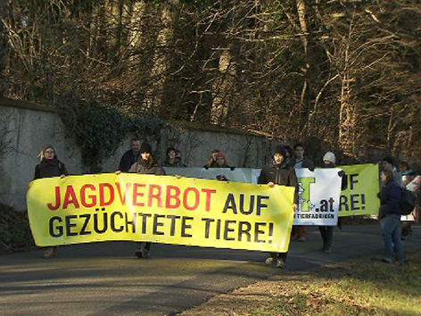Protest Fasan Jagd Thal