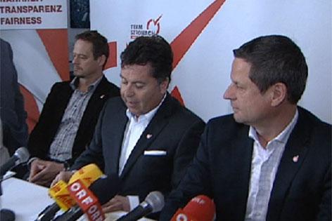 Otto Konrad, Hans Mayr und Helmut Naderer (v.l.n.r.)