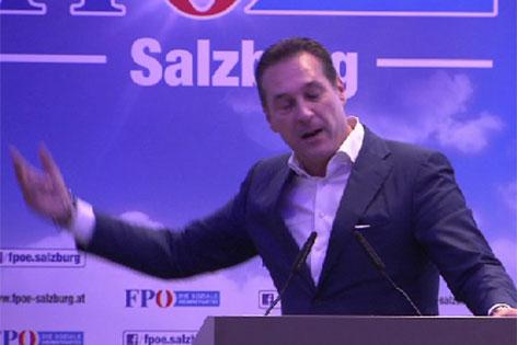 FPÖ-Bundesparteichef Heinz Christian Strache