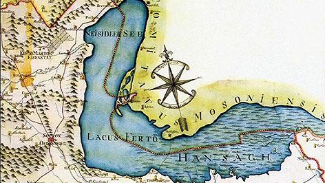 Historische Karte des Neusiedler Sees