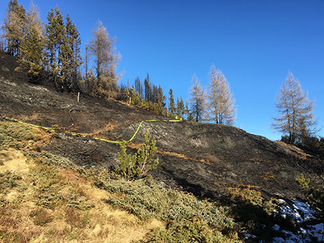 Waldbrand Obernberg Tag 2