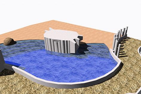 Visualisierung des neuen Badebeckens
