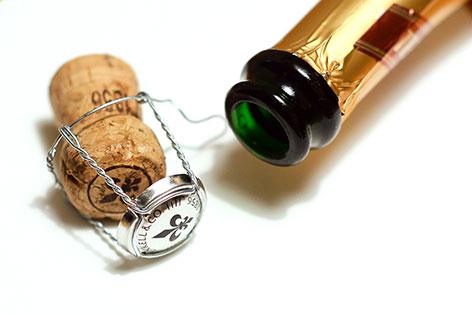 Sekt Flasche Korken Silvester Neujahr