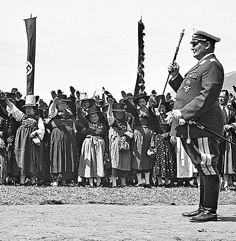 Hermann Göring in Kaprun bei Spatenstich für den Bau des Kraftwerkes