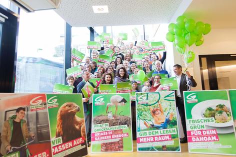 Wahlkampfauftakt der Grünen in Telfs