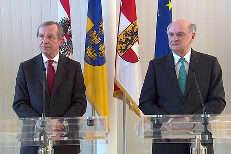 Wilfried Haslauer und Erwin Pröll