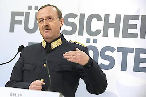 Franz Prucher bei einer Rede