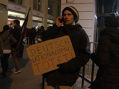 Demonstranten Akademikerball