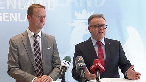 Johann Tschürtz (FPÖ) und Hans Niessl (SPÖ)