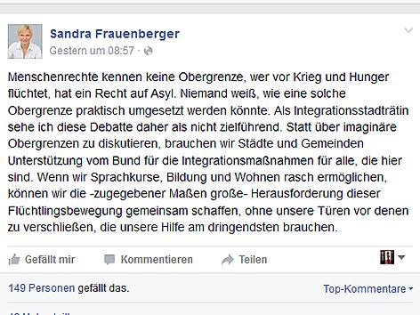 Facebook Sandra Frauenberger