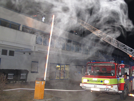 Brand Flüchtlinge Notquartier Graz