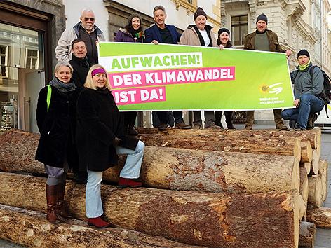 Aktion der Grünen Bauern in der Steiermark