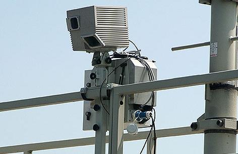 Vorrichtung zur automatischen Vignettenkontrolle auf der A22 in Wien