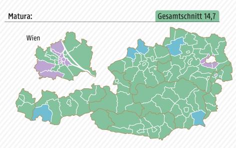 Karte zum Bildungsstandard in Österreich