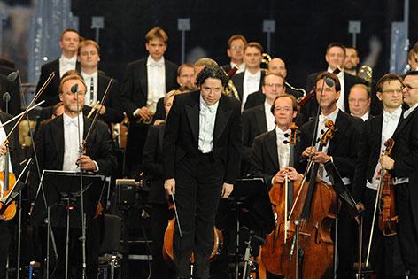 Gustavo Dudamel beim Sommernachtskonzert 2012