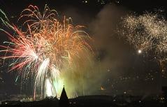 Feuerwerke beim Bergsilvester in Innsbruck