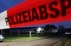 Absperrung Band Polizei Mord