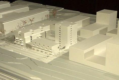 Modell für neuen Gemeindebau in Favoriten
