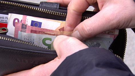 Geldtasche, bezahlen, Geld