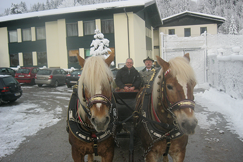 Pferdeschlittenfahrt ins Neubachtal