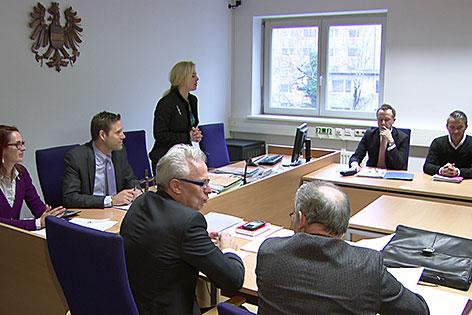 Tagsatzung (Verhandlung) im Konkursverfahren gegen Austria Salzburg am Salzburger Landesgericht