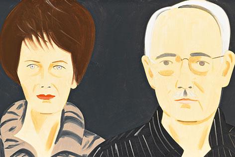 Agnes und Karlheinz Essl, gemalt von Alex Katz