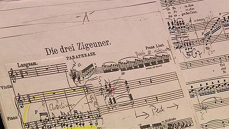 Proben für Lisztfestival, Ildinko Raimondi, Eduard Kutrowatz