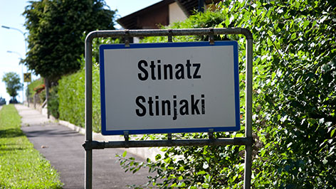 Ortstafel Stinatz