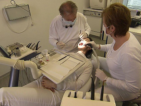 Zahnarzt Untersuchung