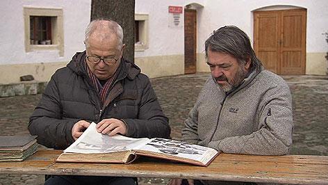 Sepp Laubner und Robert Schneider in der Cselley Mühle in Oslip