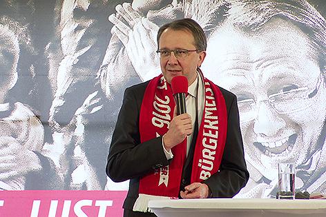 Matthias Stadler bei der SPÖ Delegiertenversammlung zur Gemeindesratswahl