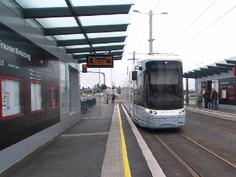 Straßenbahn Linz AG Linz Linien Bim Trauner Kreuzung