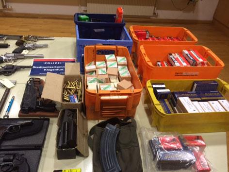 Waffenlager in Klagenfurt und Pörtschach ausgehoben