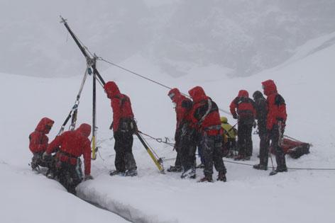 Gletscherspalten, Spaltenbergung