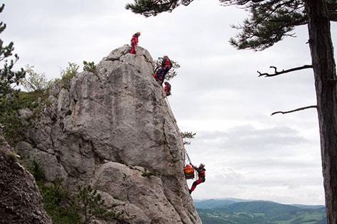 Bergung am Fels
