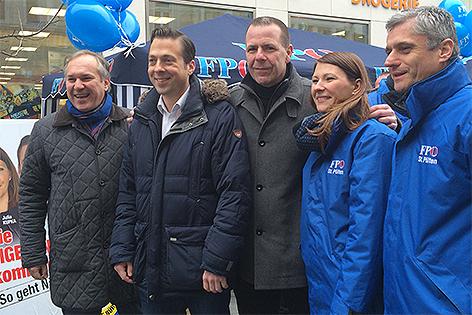 FPÖ Gemeinderatswahlkampf in Sankt Pölten